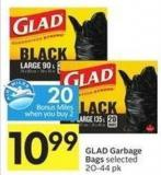 Glad Garbage Bags Selected 20-44 Pk - 20 Air Miles Bonus Miles