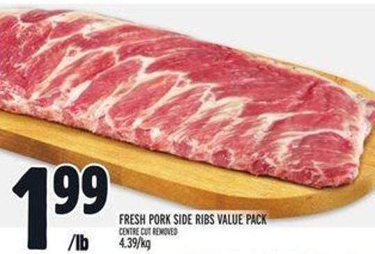 Fresh Pork Side Ribs Value Pack