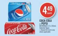 Coca-cola or Pepsi Beverages 18 X 355ml