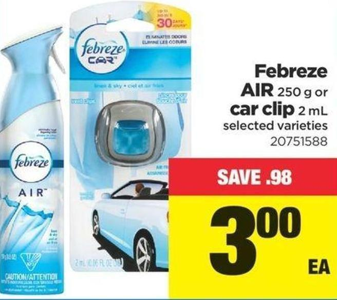 Febreze Air - 250 G Or Car Clip - 2 Ml