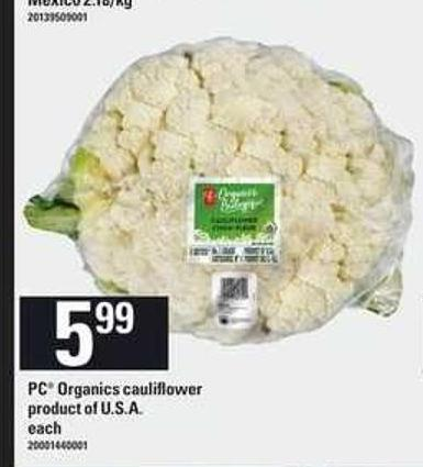 PC Organics Cauliflower