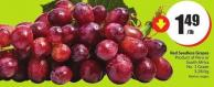 Red Seedless Grapes Product of Peru or South Africa No. 1 Grade 3.28/kg