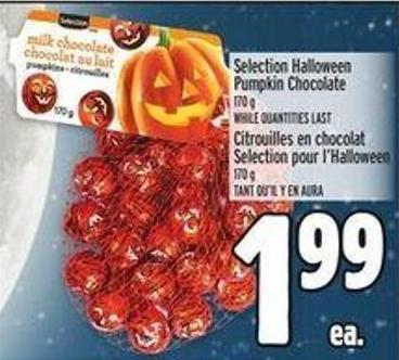 Selection Halloween Pumpkin Chocolate