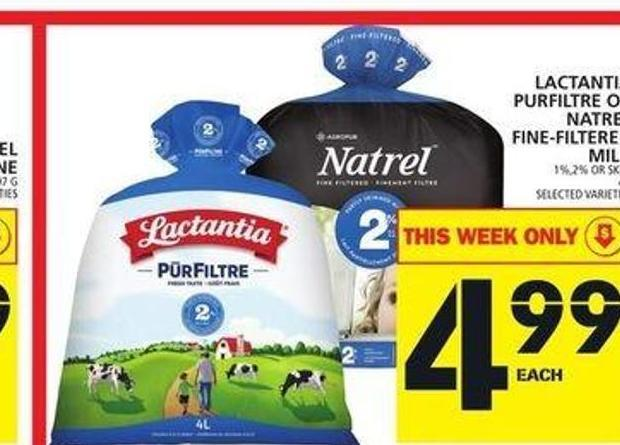Lactantia Purfiltre Or Natrel Fine Filtered Milk