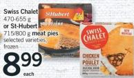 Swiss Chalet - 470-655 G Or St-hubert - 715/800 G Meat Pies