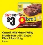 General Mills Nature Valley Protein Bars 148-160 g or Fibre 1 Bars 125 g