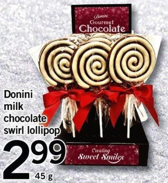 Donini Milk Chocolate Swirl Lollipop - 45 G