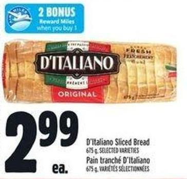 D'italiano Sliced Bread