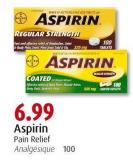 Aspirin Pain Relief