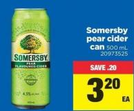 Somersby Pear Cider Can - 500 mL