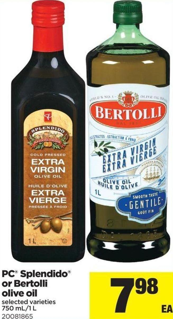 PC Splendido Or Bertolli Olive Oil - 750 Ml/1 L