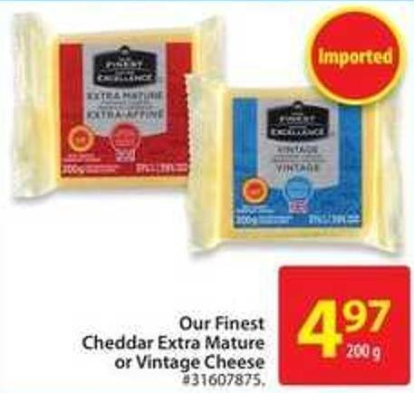 Our Finest Cheddar Extra Mature or Vintage Cheese