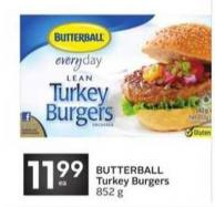 Butterball Turkey Burgers