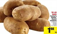 Farmer's Market Russet Potatoes - 10 Lb Bag