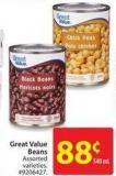 Great Value Beans 540 ml