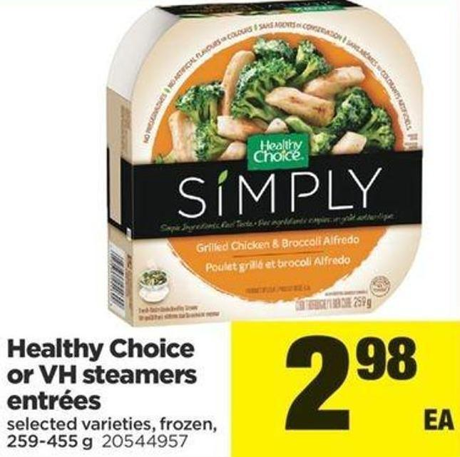 Healthy Choice Or VH Steamers Entrées - 259-455 G