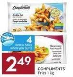 Compliments Fries 1 Kg - 4 Air Miles Bonus Miles