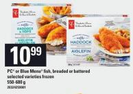 PC Or Blue Menu Fish - Breaded Or Battered - 550-680 g