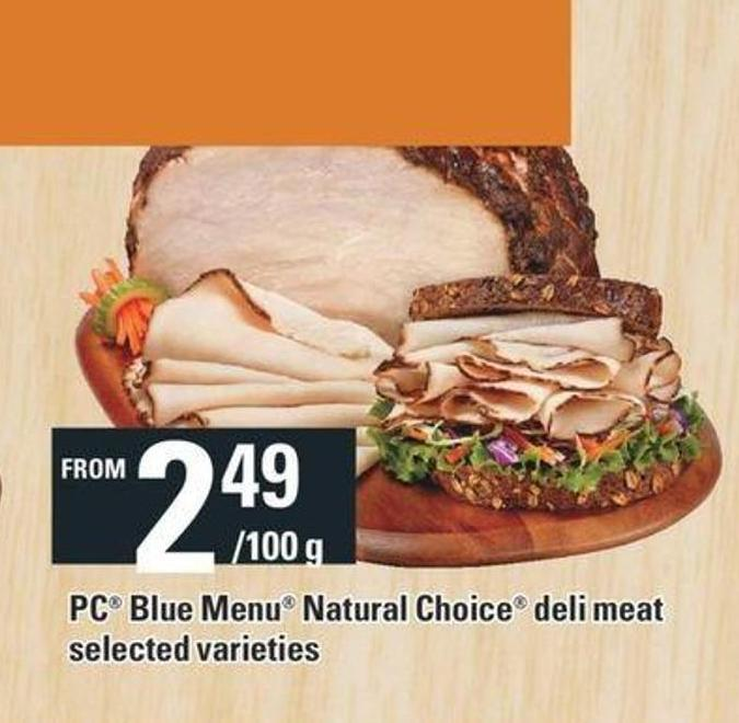 PC Blue Menu Natural Choice Deli Meat