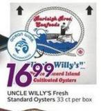 Uncle Willy's Fresh Standard Oysters
