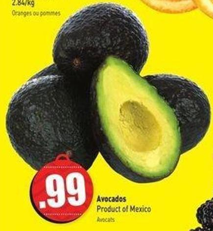 Avocados Product of Mexico