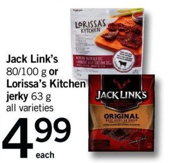 Jack Link's - 80/100 G Or Lorissa's Kitchen Jerky