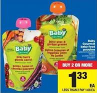 Baby Gourmet Baby Food Pouches - 128 Ml