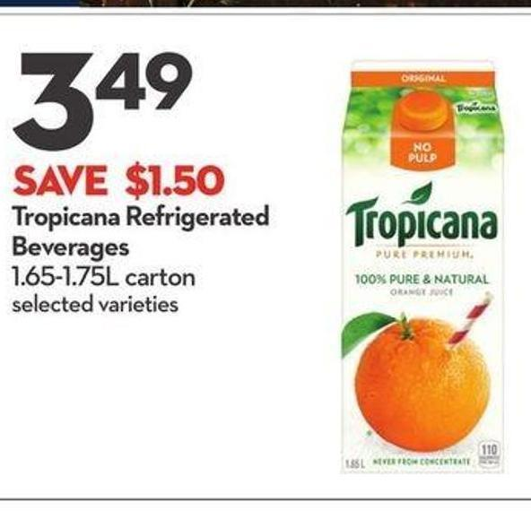 Tropicana Refrigerated Beverages