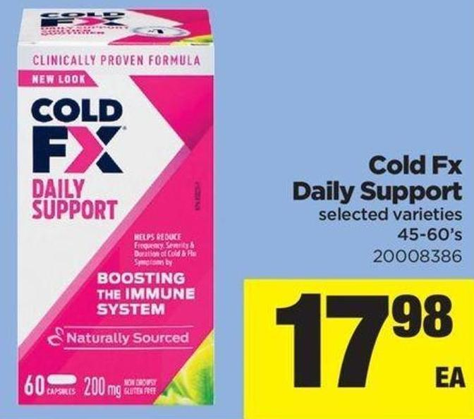 Cold Fx Daily Support - 45/60's