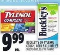 Buckley's Or Tylenol Cough - Cold & Flu Relief