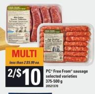 PC Free From Sausage - 375-500 G