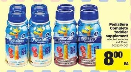Pediasure Complete Toddler Supplement - 4x235 Ml