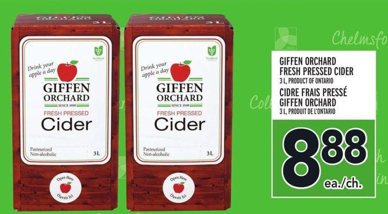 Giffen Orchard Fresh Pressed Cider
