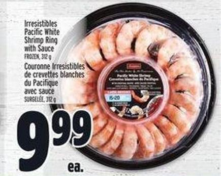Irresistibles Pacific White Shrimp Ring With Sauce