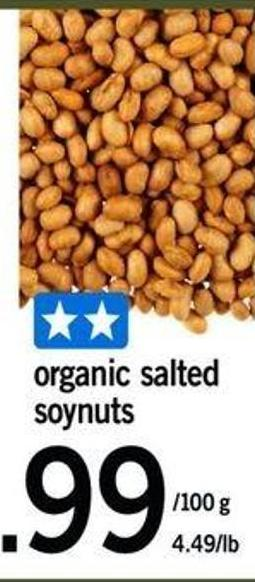 Organic Salted Soynuts