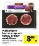 Marcangelo Bacon Wrapped Turkey Or Beef Medallions - 340 g