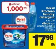 Persil Proclean Laundry Detergent - 4.43 L Or Discs - 62's