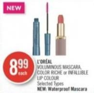 L'oréal Voluminous Mascara - Color Riche or Infallible Lip Colour