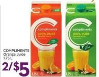 Compliments Orange Juice 1.75 L