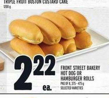 Front Street Bakery Hot Dog Or Hamburger Rolls