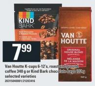 Van Houtte K-cups 6-12's - Roast And Ground Coffee 340 G Or Kind Bark Chocolate Bags 102 G