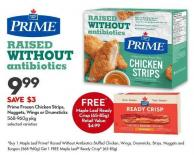 Prime Frozen Chicken Strips -  Nuggets - Wings or Drumsticks 568-960g Pkg Prime Frozen Chicken Strips -  Nuggets - Wings or Drumsticks 568-960g Pkg