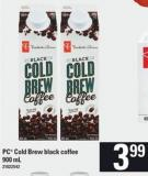 PC Cold Brew Black Coffee - 900 Ml