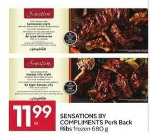 Sensations By Compliments Pork Back Ribs