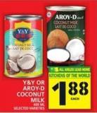 Y&y Or Aroy-d Coconut Milk