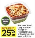 Prepared Fresh Daily In-store Mango or Pineapple Salsa or Guacamole Dip Assorted Sizes