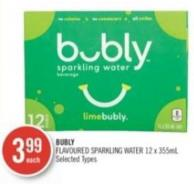 Bubly Flavoured Sparkling Water 12 X 355ml