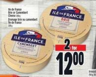 Ile De France Brie Or Camembert Cheese