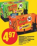 Hershey's Assorted Chocolate - 529 g or Hershey's Assorted Chocolate And Candy - 556/706 g