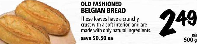 Old Fashioned Belgian Bread 500 g